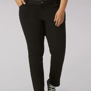 Lee classic fit straight leg blk jeans